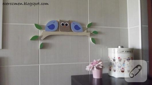 baykuşlu duvar süsü