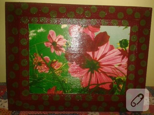 Çiçekli tablo