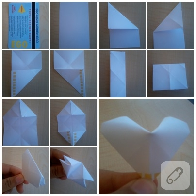 kağıt kalp yapımı
