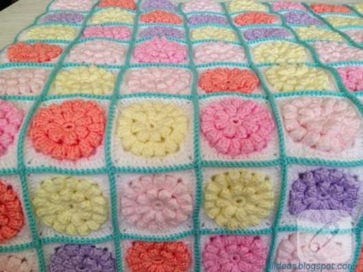 Tığ işi bebek battaniyesi