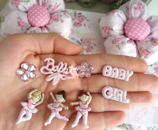 balerin temalı düğmeler
