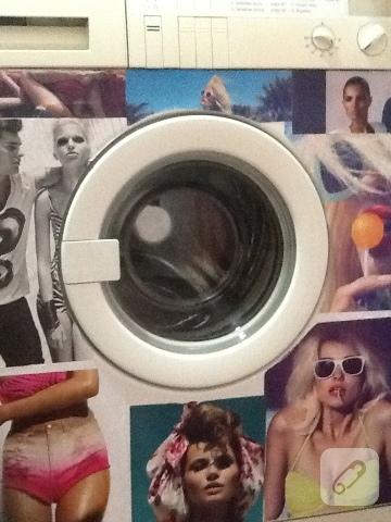 çamaşır makinesi süsleme