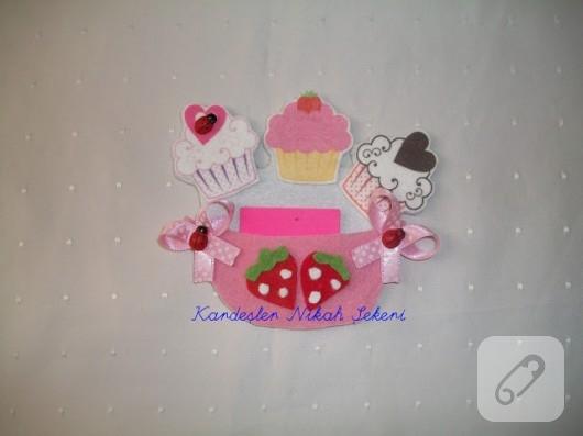 keçe cupcake magnet