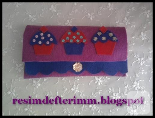 el yapımı keçe cüzdan