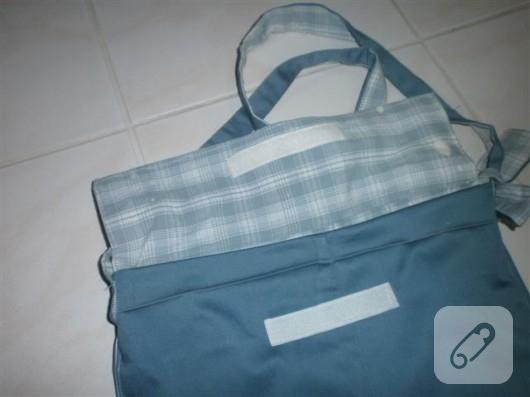 Kumaş postacı çantası