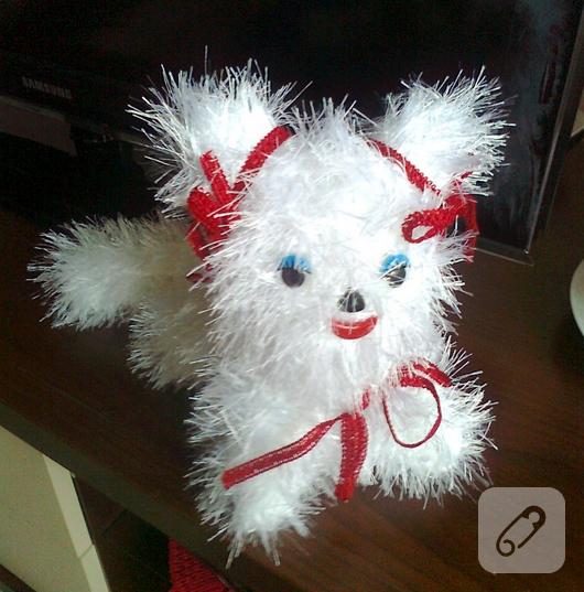 örgü oyuncak kedi