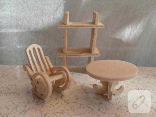 Ahşap minyatür mobilyalar