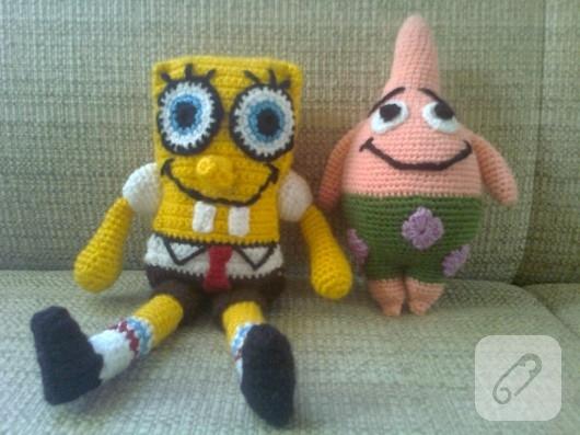 Amigurumi Sünger Bob oyuncakları