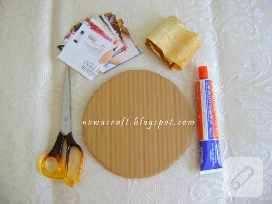 Kağıt kapı süsü yapımı