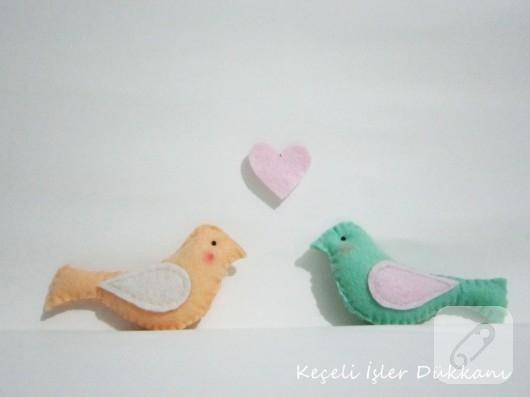 keçe kuş modelleri