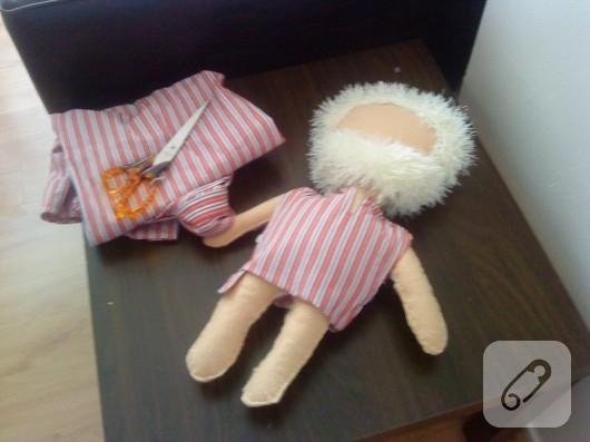 Keçe oyuncak bebek yapımı