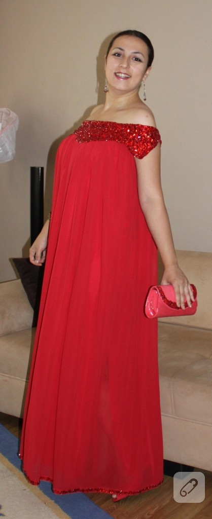 kırmızı abiye elbise