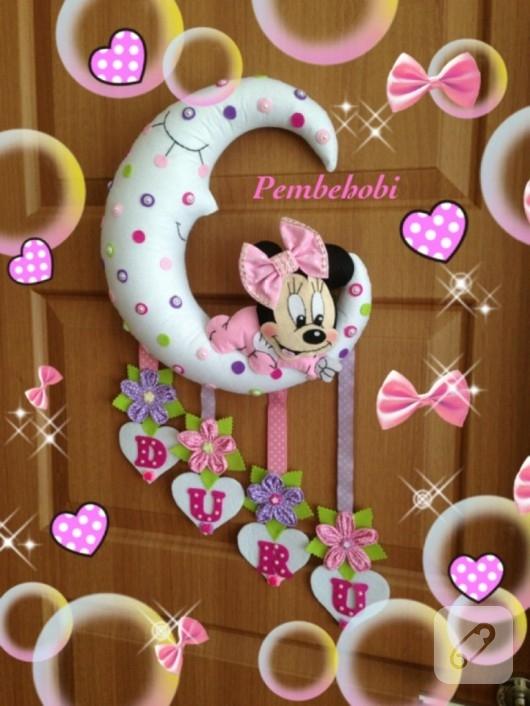 Minnie Mouse kapı süsü