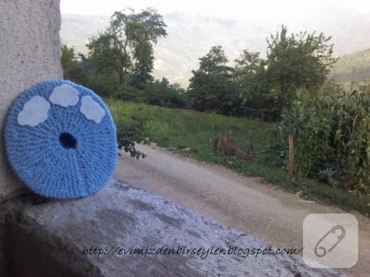 Örgü bardak altlığı yapımı