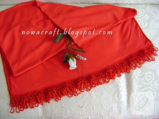 kırmızı şal modeli