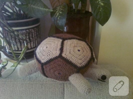 tığ işi kaplumbağa