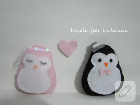 keçe penguen nikah şekeri