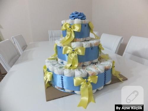 bebek hediyelikleri bez pasta