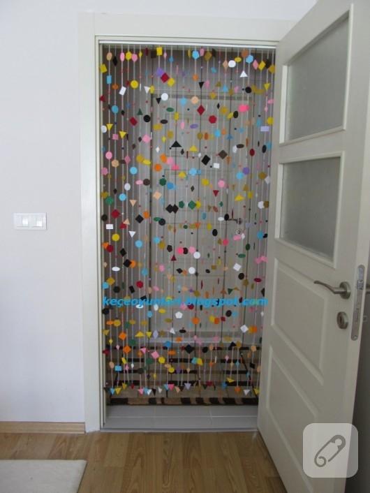Boncuklu kapı perdesi