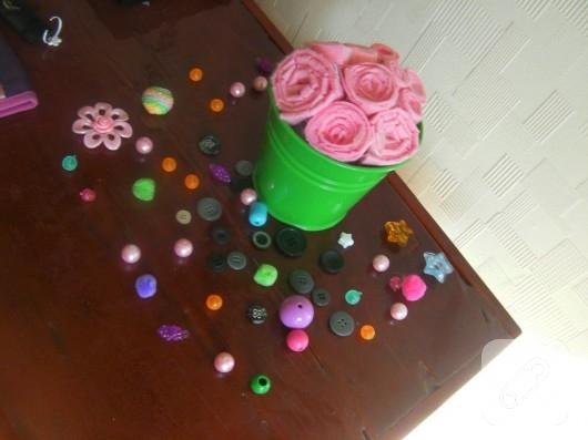 keçe çiçek yapımı
