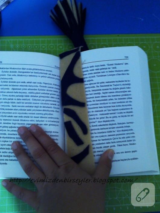 keçelerden kitap ayracı yapımı