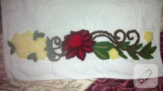 Panç işi havlu kenarı