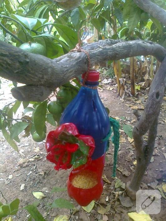 Pet şişeden kuş evi yapımı