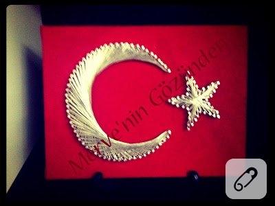 filografi-ornekleri-civi-sanati-turk-bayragi-pano-yapimi