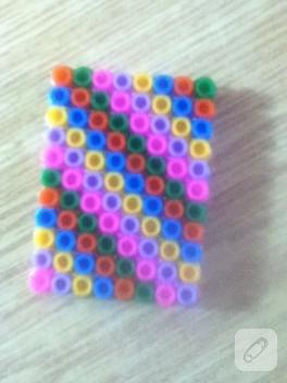 Hama boncuklarından minyatür defter