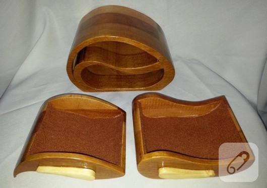 Çekmeceli ahşap takı kutusu