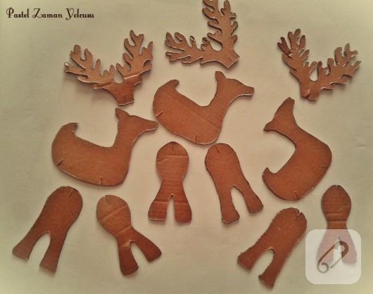 kartondan geyik yapımı