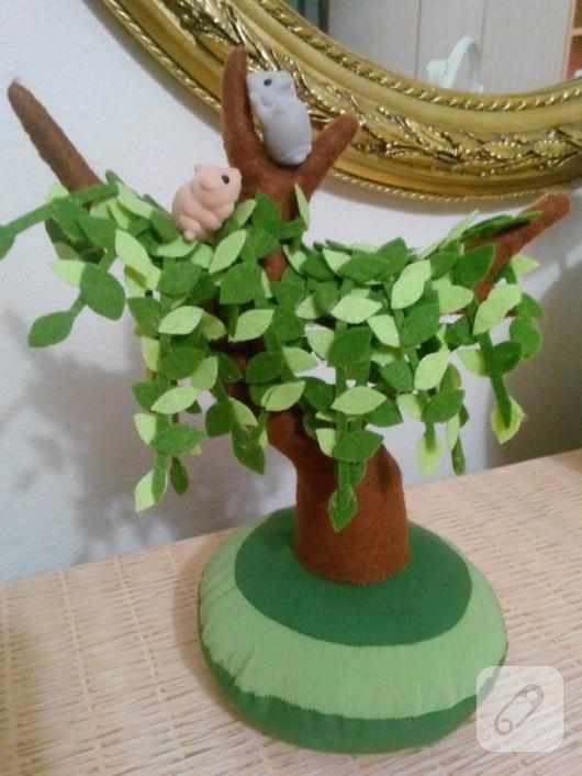 Dekoratif keçe ağaç
