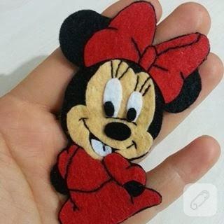 Keçeden Mini Mouse
