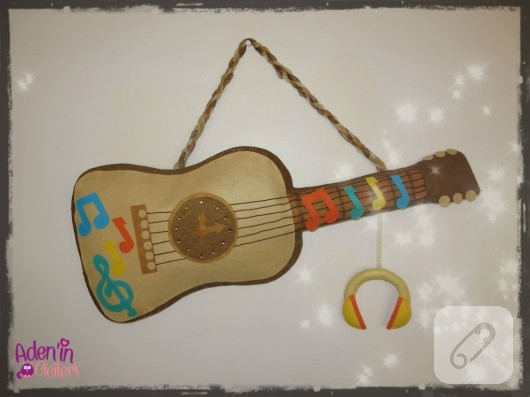 Keçe gitar duvar süsü