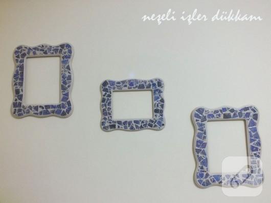 Kağıt mozaik çerçeve modelleri
