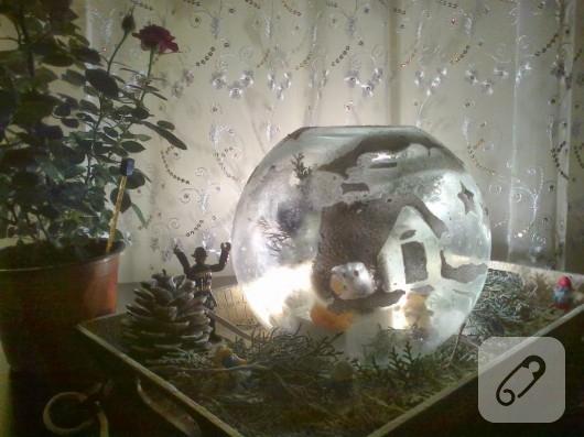 kış temalı gece lambası yapımı