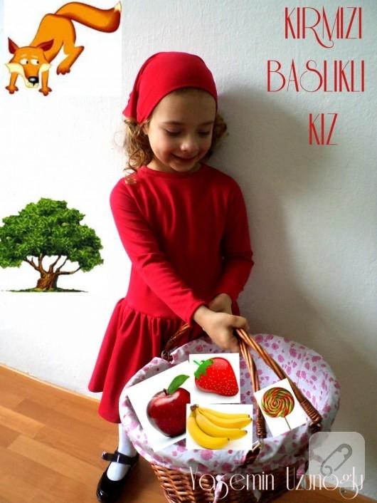 kırmızı başlıklı kız elbisesi