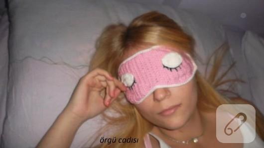örgü uyku maskesi