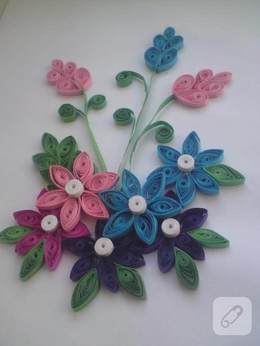 quilling çiçekler