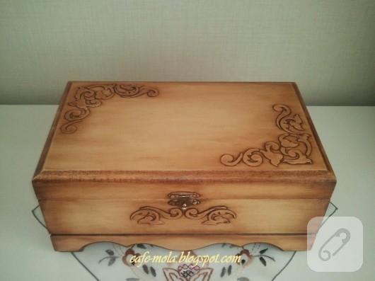 yağlı boya eskitme kutu