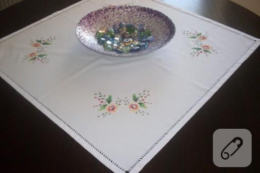 kumaş boyama masa örtüsü