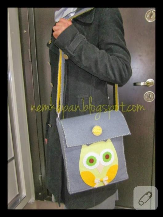 Keçe messenger çanta