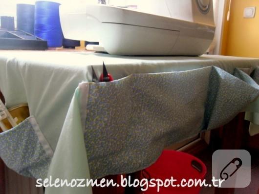 dikiş odası için kumaş düzenleyici