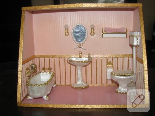 fimodan minyatür banyo