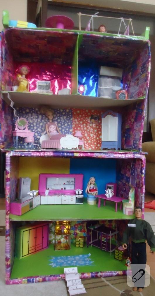 kagit-isleri-kartondan-barbie-evi
