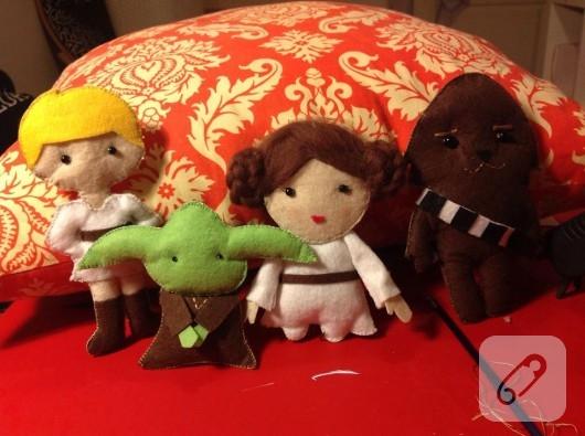 Keçeden Star Wars oyuncakları