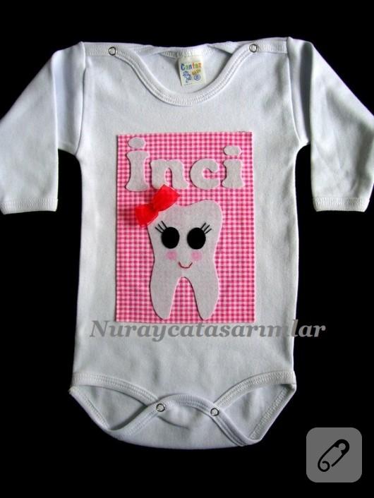 keçe süslemeli bebek badisi