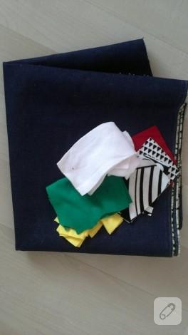 Kış temalı kot çanta yapımı