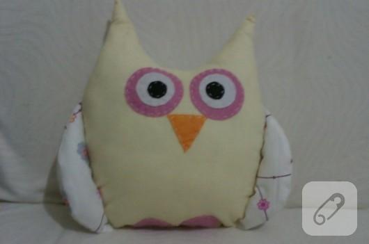 Kumaş baykuş yastık