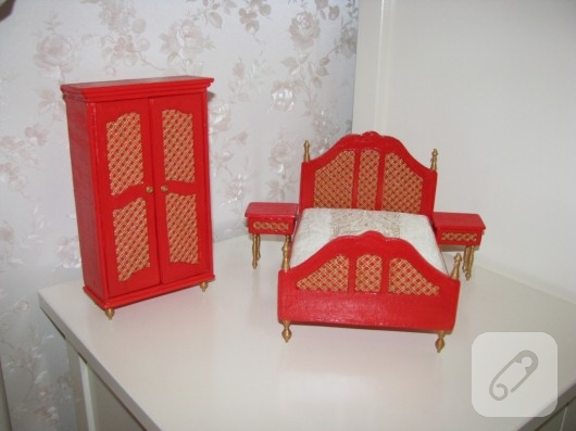 Minyatür yatak odası takımı